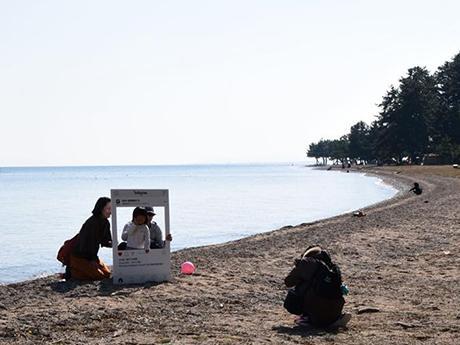 プライベートビーチでSNSフォトを撮影(第3回オフ会)