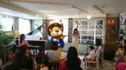 大津でライオンのプロ演奏家「やすおんくん」出演の音楽会 ピアノでラジオ体操も