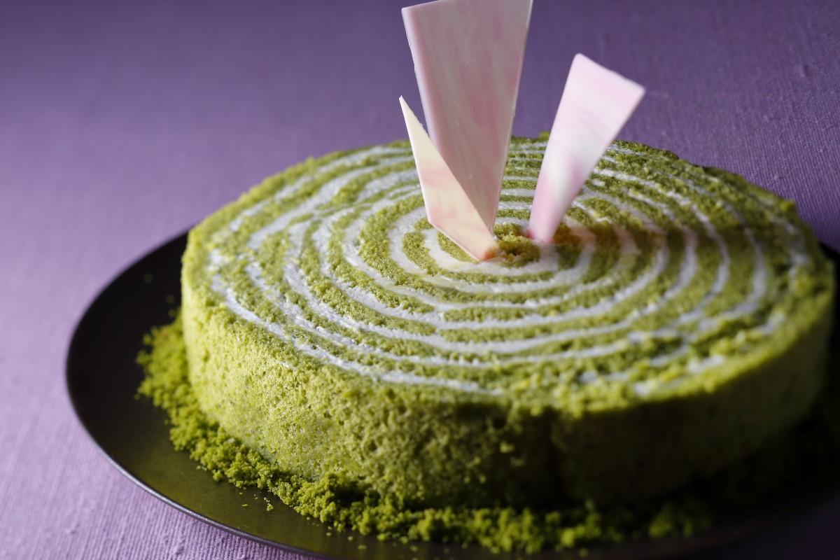 朝宮茶と政所茶を使った「ネイキッドケーキ」(イメージ写真)