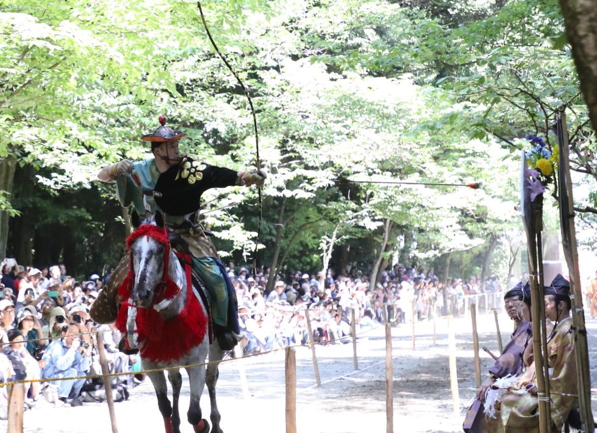 馬の上から矢を射る射手