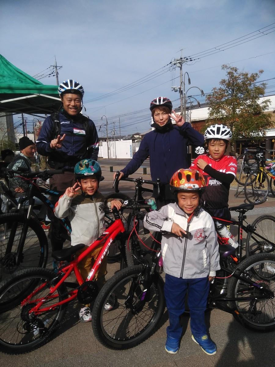 昨年の様子 家族で自転車スタンプラリーを楽しむ姿が見られた