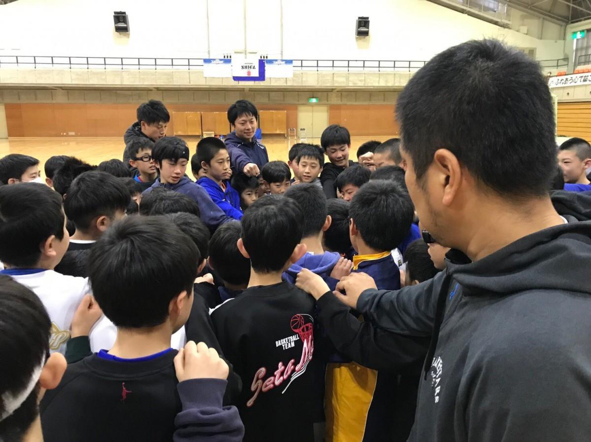 滋賀レイクスターズU15トライアウトの様子 写真提供:滋賀レイクスターズ