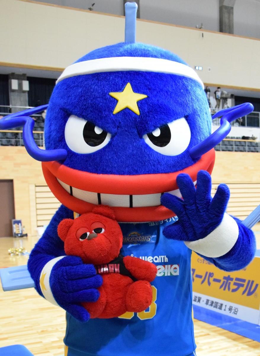 滋賀レイクスターズのマスコットキャラクター「マグニー」