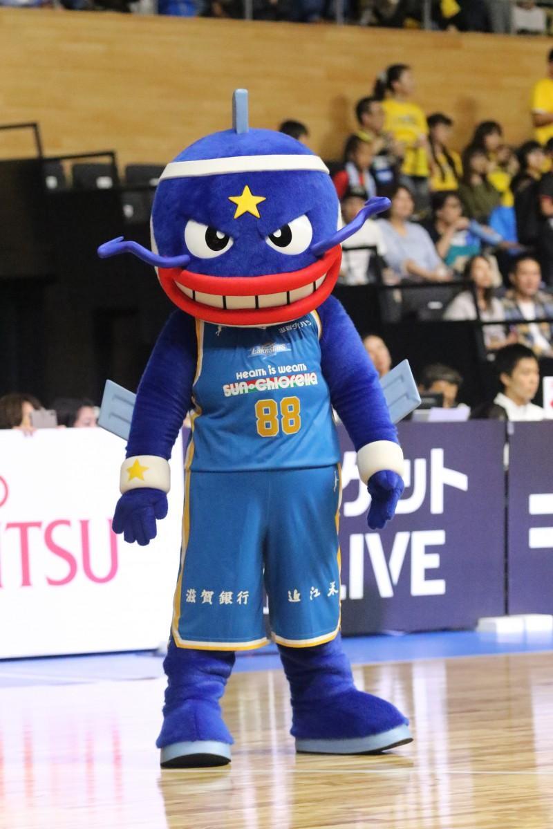 滋賀レイクスターズマスコットの「マグニー」は31位から16位へ大躍進(写真提供:B.LEAGUE)