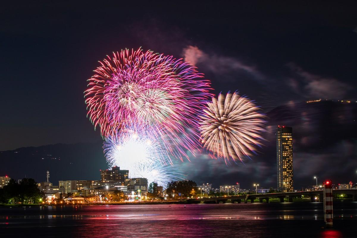 2020年度は中止が決定したびわ湖大花火大会(過去開催時の様子)写真提供:(公社)びわこビジターズビューロー