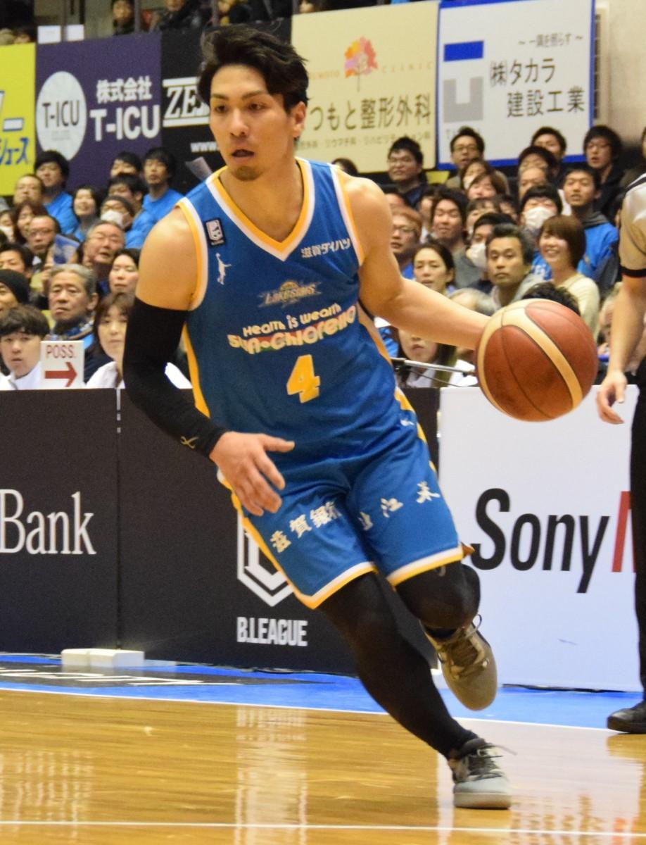 滋賀レイクスターズ2020-21シーズンキャプテンの狩俣昌也選手
