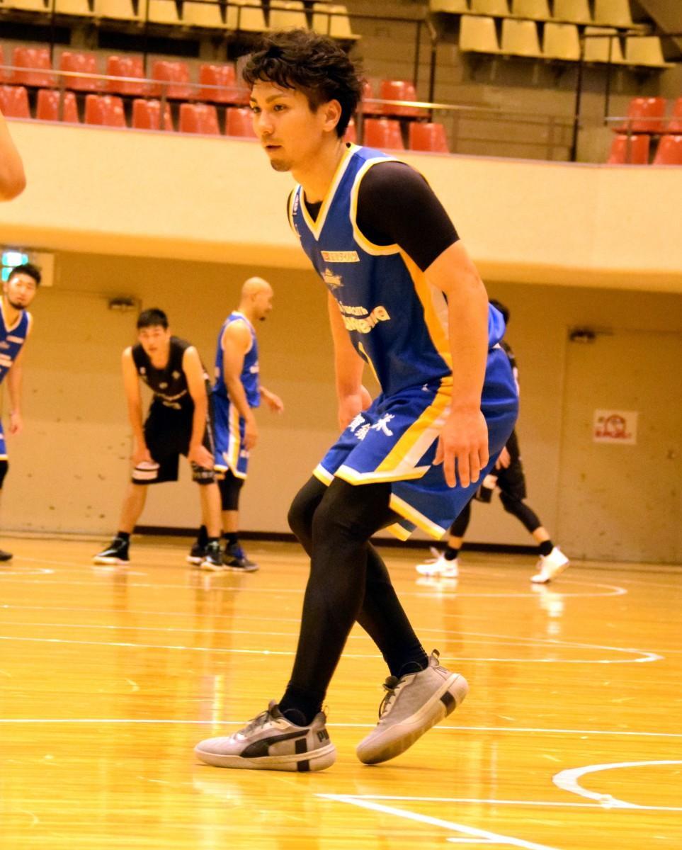 「バスケットができることに感謝でいっぱい」と話す狩俣昌也選手