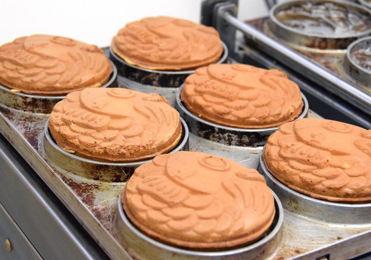 丸い形が特徴の「ソコ★ソコ」のたい焼き