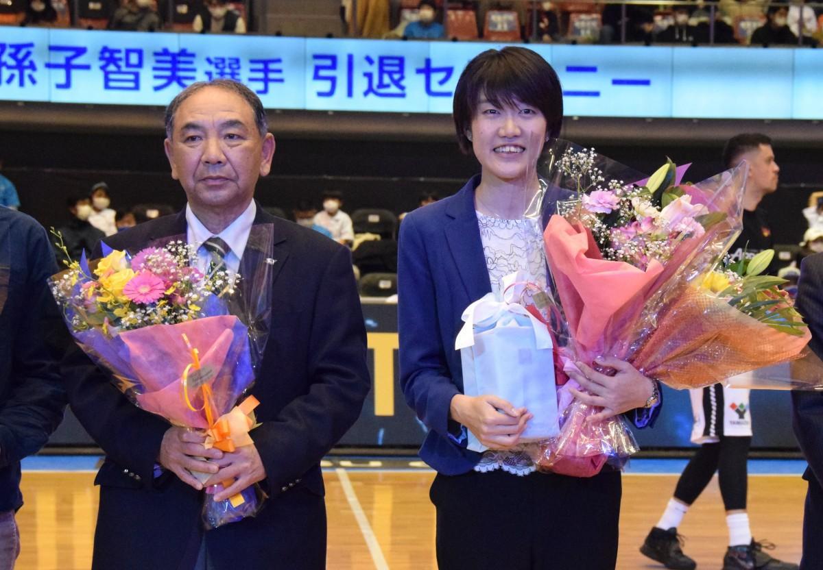 我孫子智美選手と田尻隆伸監督