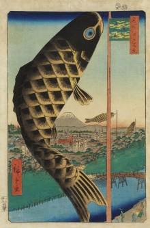 名所江戸百景 水道橋駿河台》 1857年 歌川広重作 - びわ湖大津経済新聞