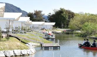 大津にグランピング施設「エバーグレイズ琵琶湖」 「内湖の自然を気軽に楽しんで」