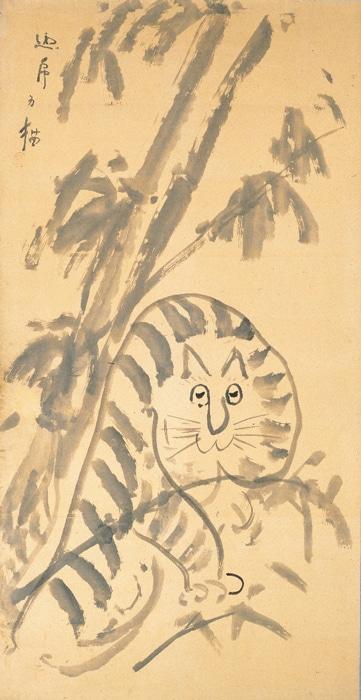 「龍虎図」のうち「虎図」19世紀(第1期展示)