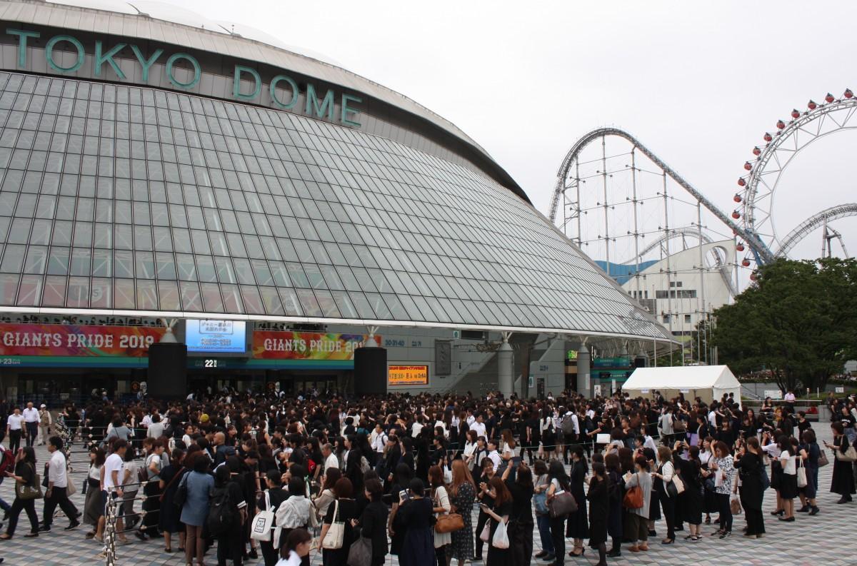 ジャニー喜多川さんの「お別れの会」が行われた東京ドーム