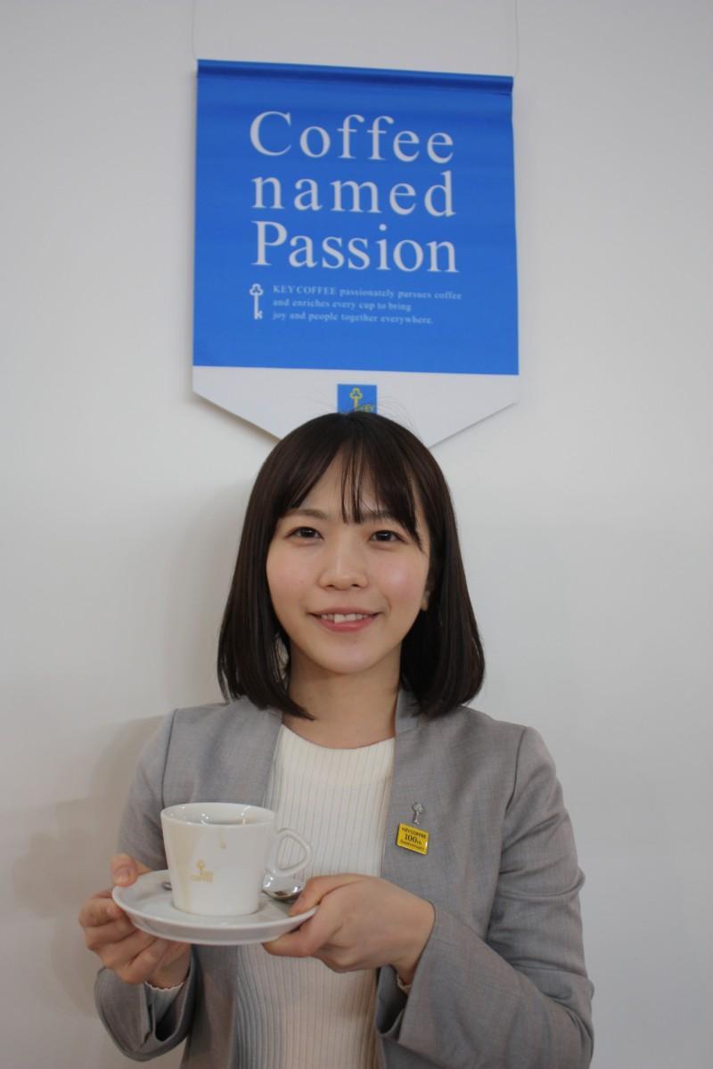 「創業ブレンド」を薦めるキーコーヒー広報チームの福角彩さん