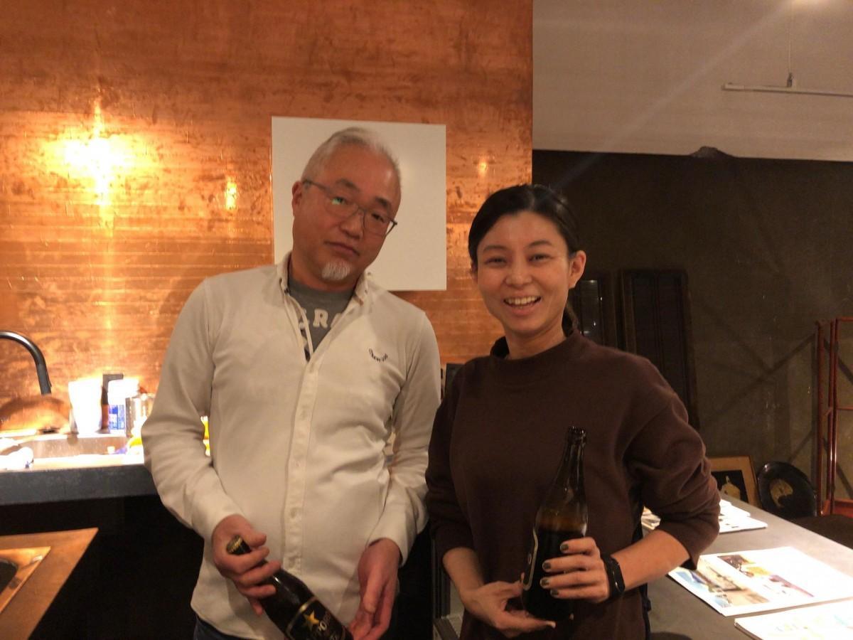 「白山倉庫」オーナーの今西和也さんと文京建築会ユースの栗生はるかさん