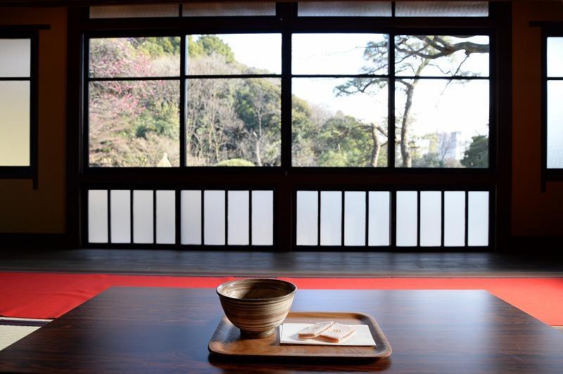 肥後細川庭園の喫茶「椿」