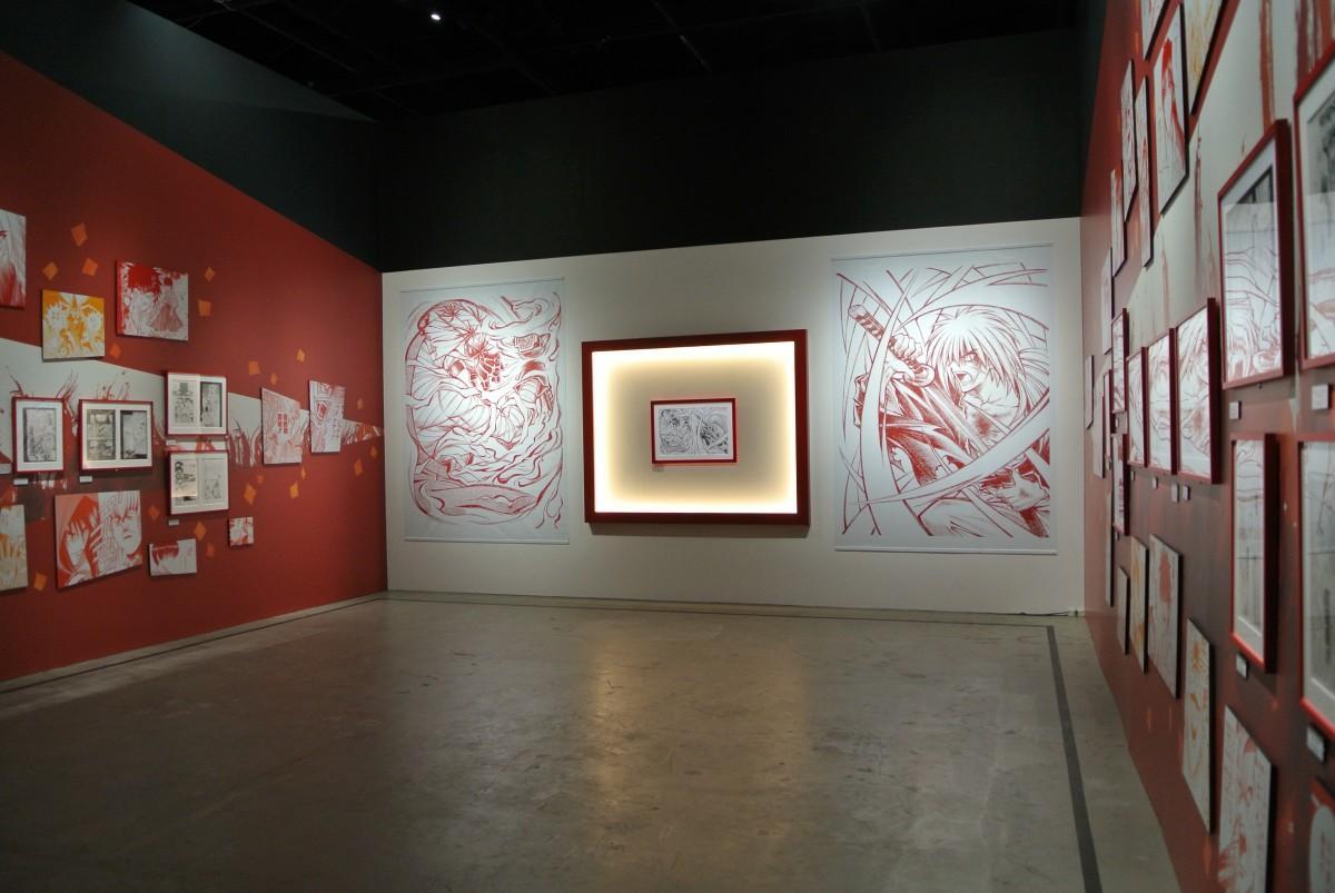 「25周年記念 るろうに剣心展」のために描き下ろされた原画「剣闘図」