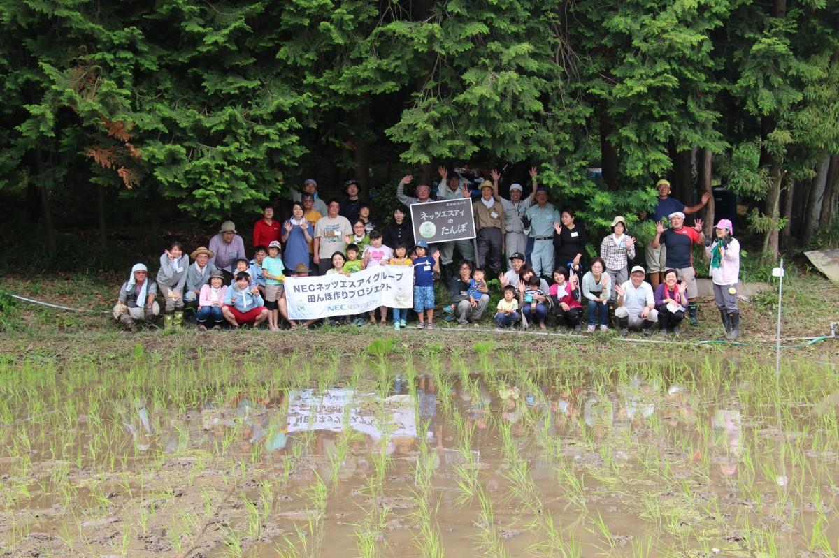 NECネッツエスアイグループの「休耕田を再生した田んぼ作りプロジェクト」