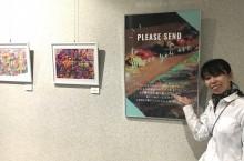 文京シビックセンターで作品展「きずなーと」 アトリウムにアートウォール