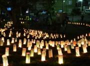 稲毛・せんげん通りのあかり祭「夜灯」  灯籠が街と人を照らす