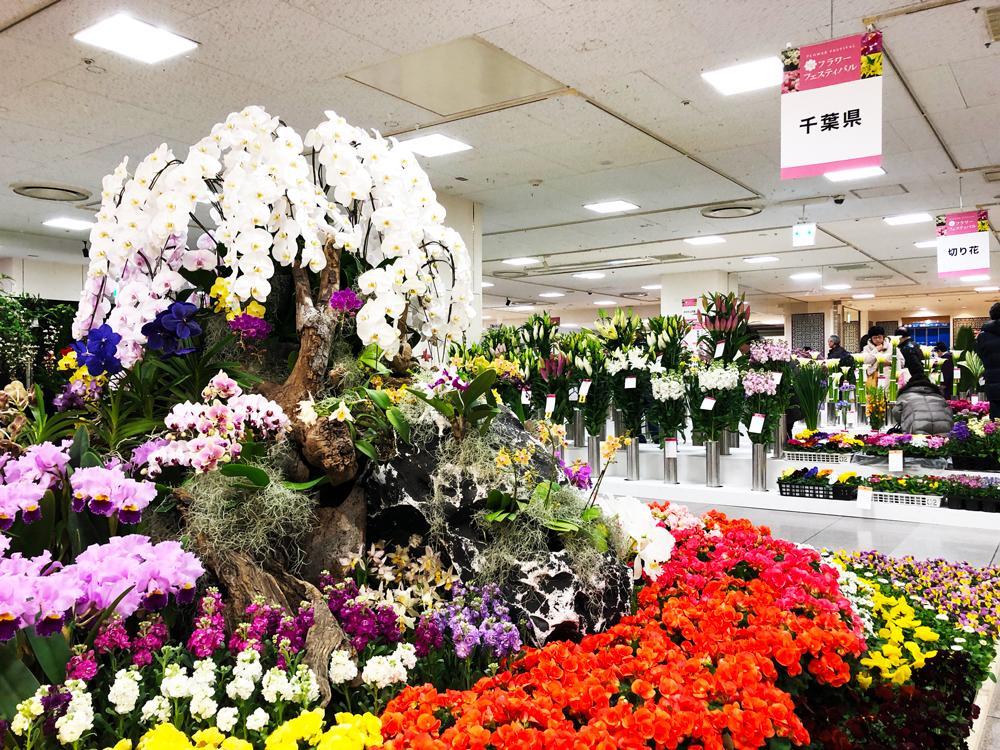 花のあふれる会場