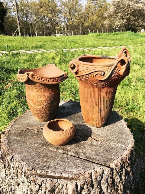 縄文土器のレプリカ
