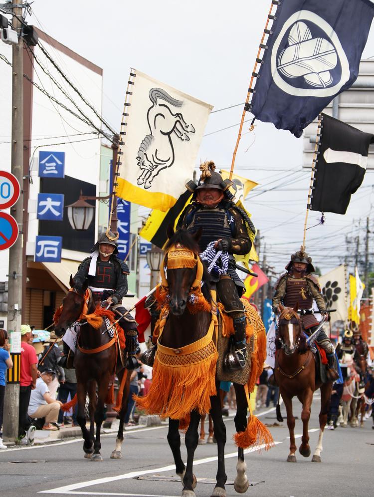 相馬野馬追騎馬武者行列の様子