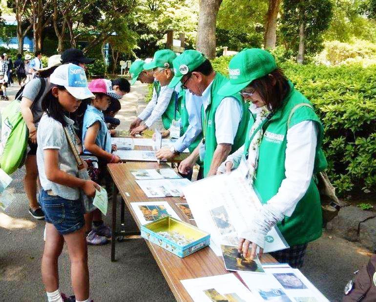 動物公園ボランティアの様子