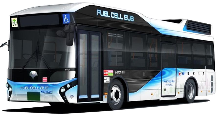 水素で走る燃料電池バス