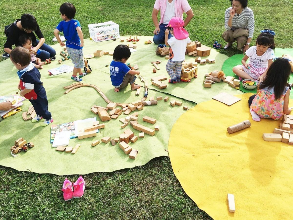 「子ども基地」で遊ぶ参加者(昨年の様子)