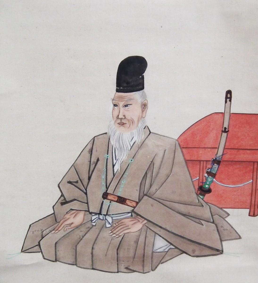 千葉常胤肖像画及び自詠短冊(成田山霊光館所蔵)