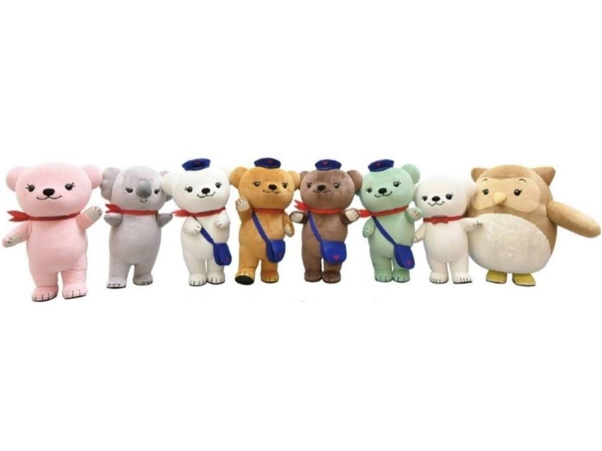 日本郵便のキャラクター「ぽすくまと仲間たち」