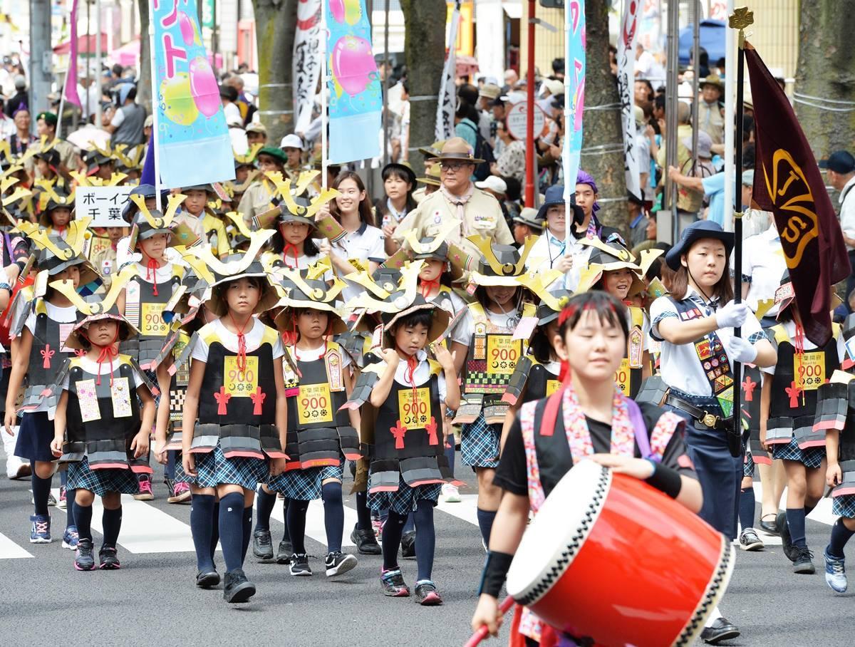 「親子三代夏祭り」子ども武者行列(昨年の様子)