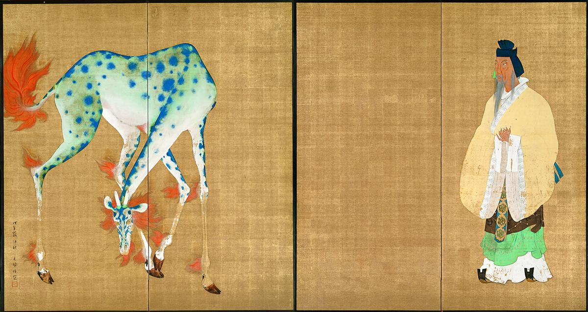 石井林響「王者の瑞」1918(大正7)年 千葉市美術館蔵