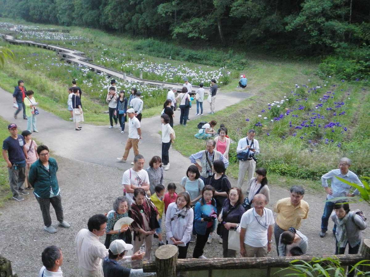 「ホタルの一生」解説を行う千葉県自然観察指導員(昨年開催の様子)