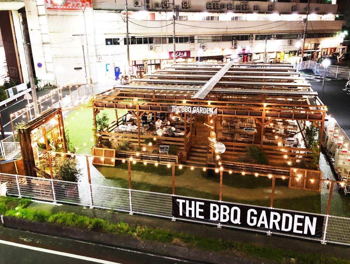 千葉駅から見た「THE BBQ GARDEN」