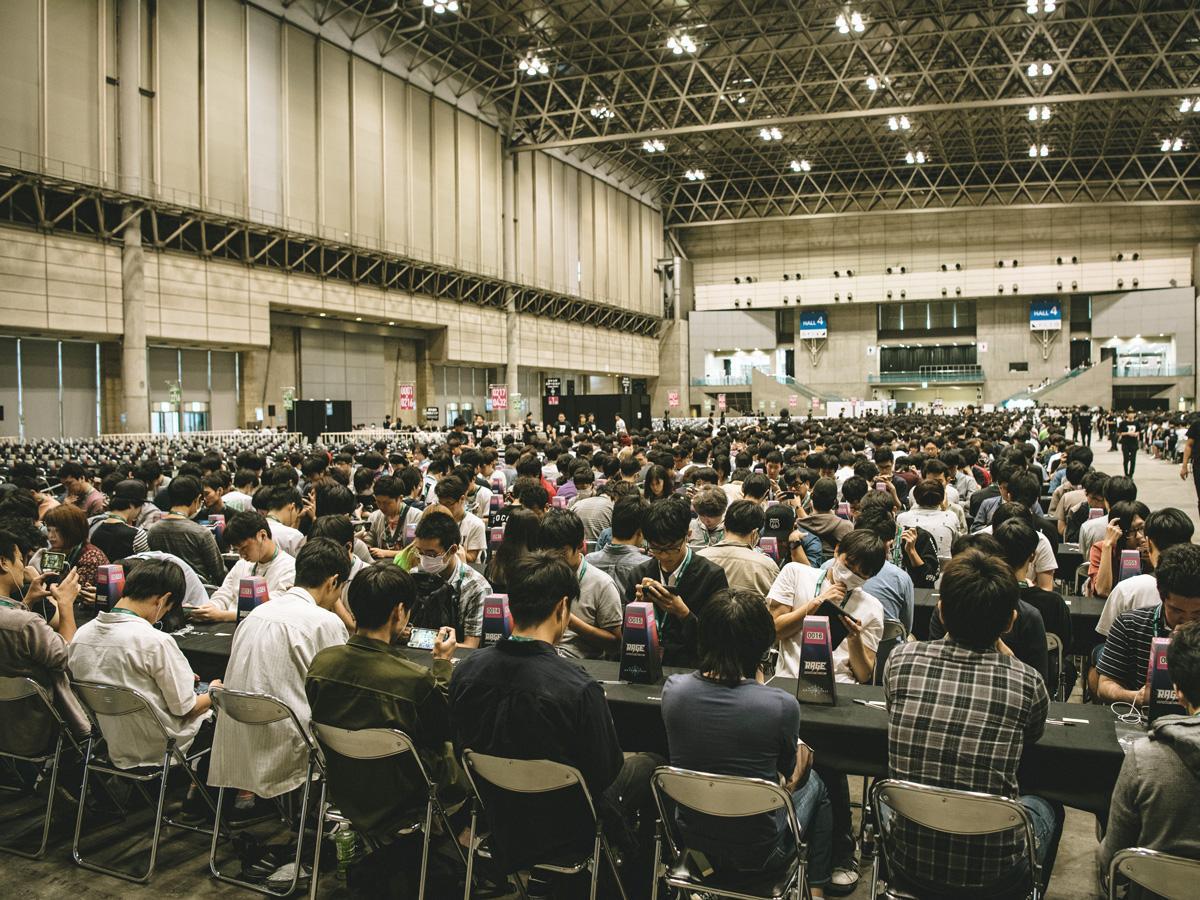 多くの参加者が集まった予選会場 (画像提供=RAGE)