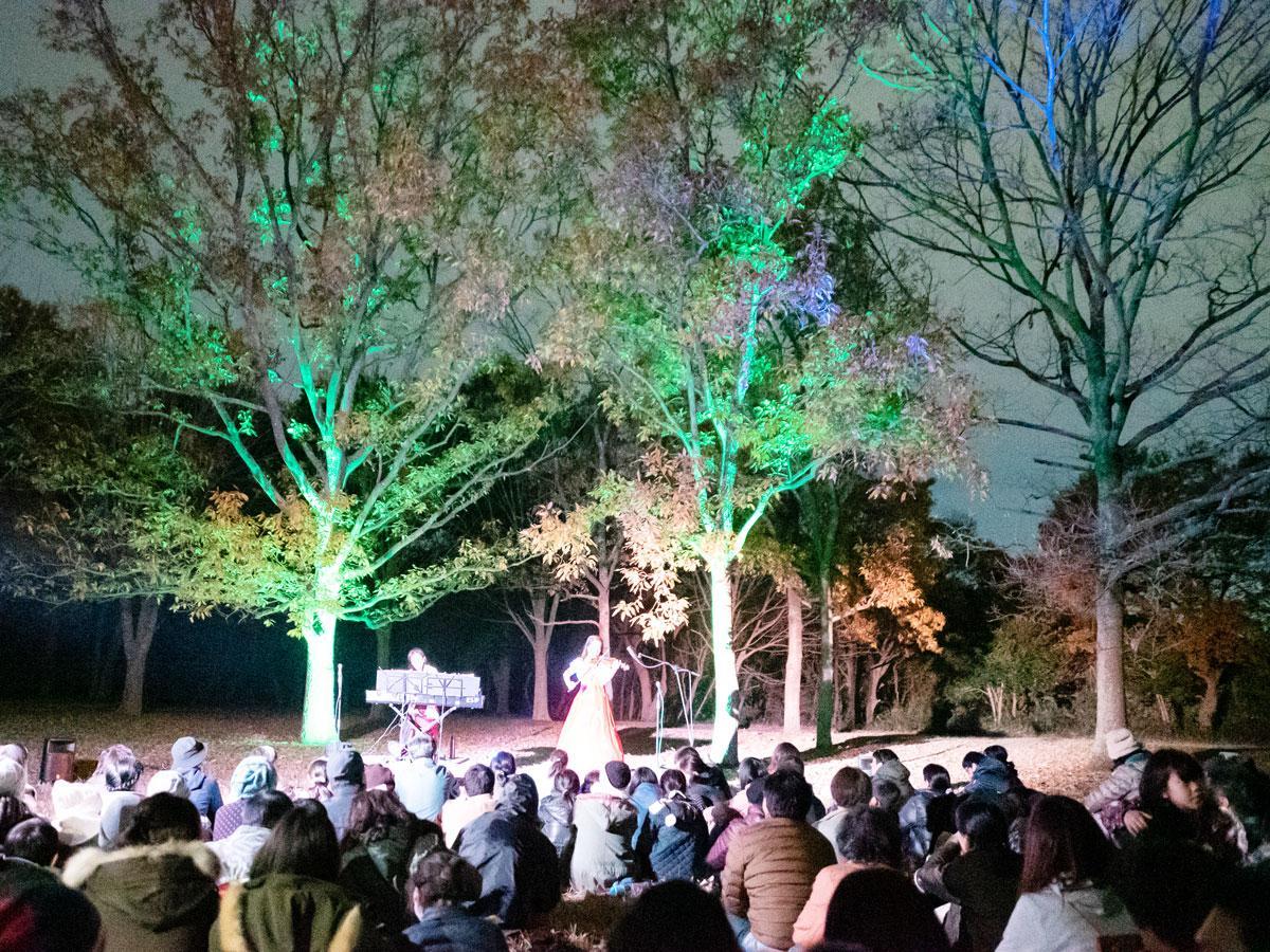 縄文の森ジャズ演奏会「貝塚コンサート」(昨年の様子)