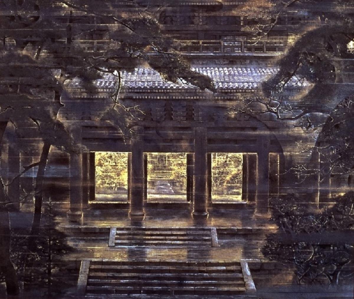 「山門雨後」(千葉県立美術館蔵、1974年)