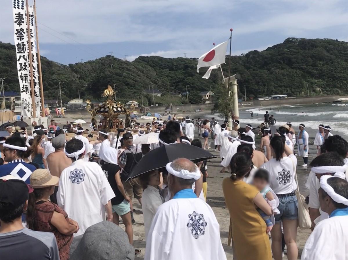 鵜原の八坂神社祭礼(昨年の様子)