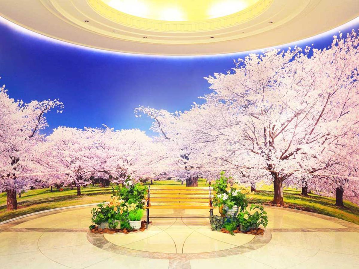 桜の壁面フォトスポット