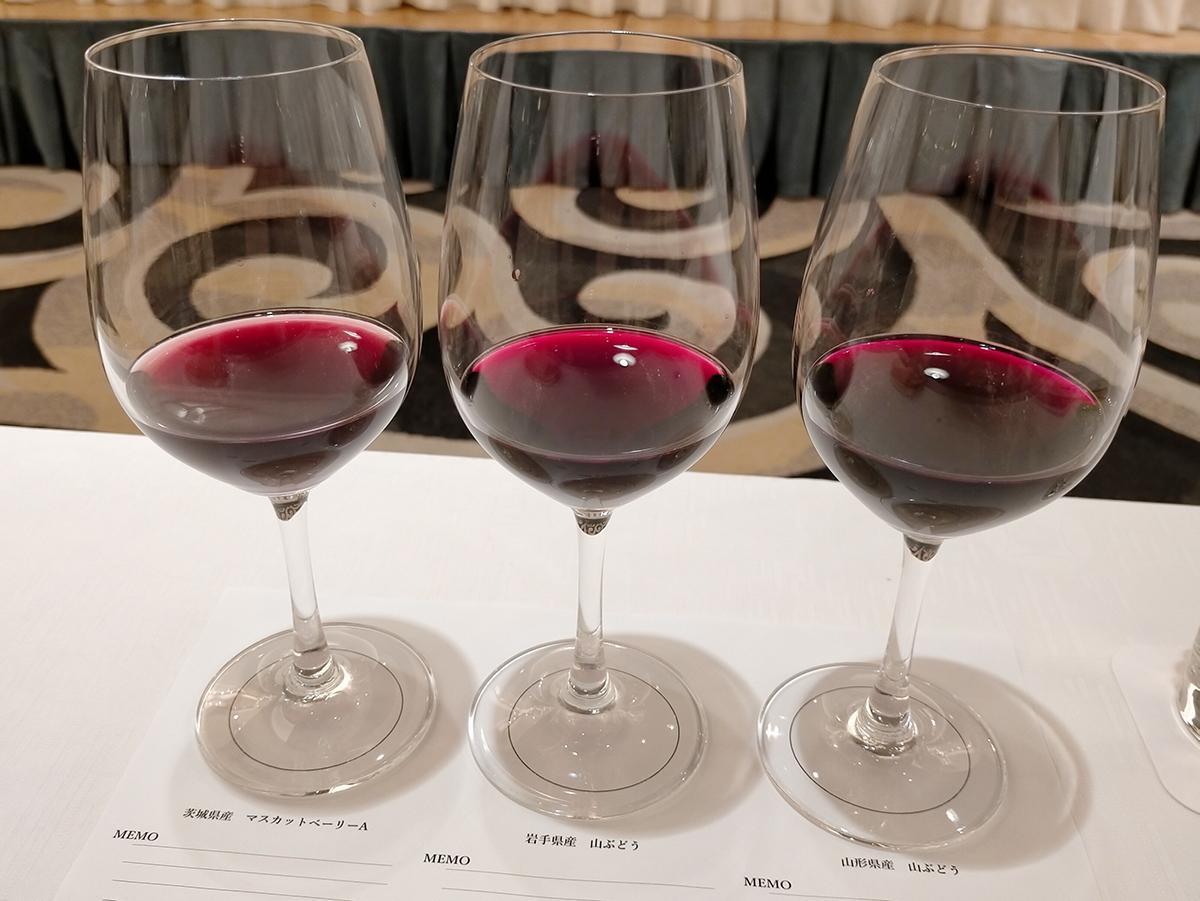 試飲会で提供された多古町醸造ワイン