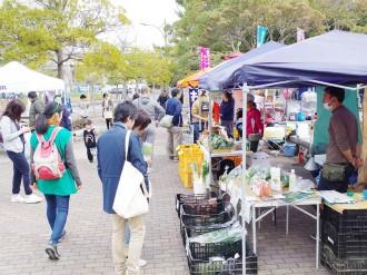 県立幕張海浜公園でマルシェイベント 産地直送・無農薬野菜販売も