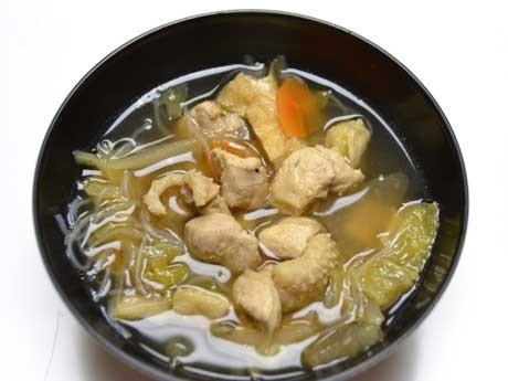福島県川俣町の「川俣シャモ」を使った「シャモ汁」