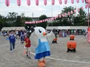 調布で東京国体マスコット「ゆりーと」PRツアー、市内80カ所でダンス披露