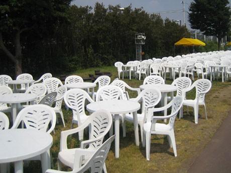 前回の花火大会Sテーブル席の様子。