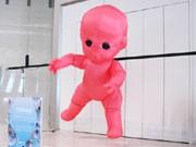 調布で「空気で動くアート」展-巨大赤ちゃん作品に来場者驚きも
