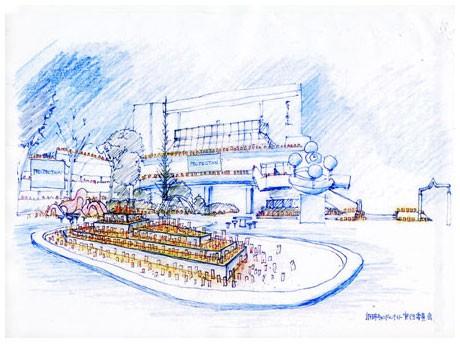 「東日本大震災慰霊祭『あの日を忘れない。』」を開催する調布南公園の配置予定図