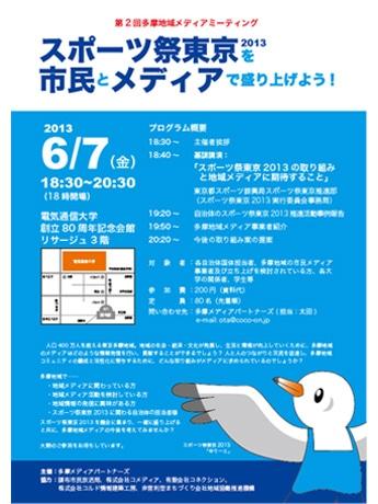 6月7日、多摩の地域メディアが集まり国体PRに向けての講演会を行う