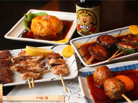 「い志井2-kai」の料理。連日満席の1階東口店と同じメニューを提供するほか、オリジナルメニューも考案中